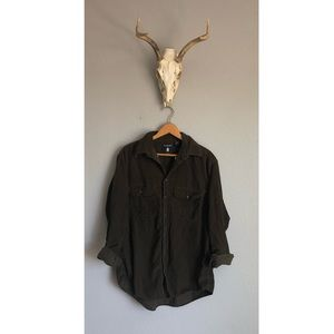 Olive Green Corduroy Button Down